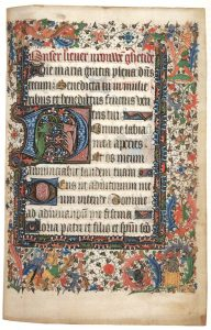 Bryn Mawr College MS 24 (Lawrence Hours), fol. 21. Book of Hours for Cambrai Use, Flanders, 1440s, vellum, 7-7/8 x 5-9/16 inches (200 x 142 mm).