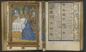Free Library of Philadelphia, Lewis Ms 126, Book of Hours, Use of Rouen, fol 33v, 34r
