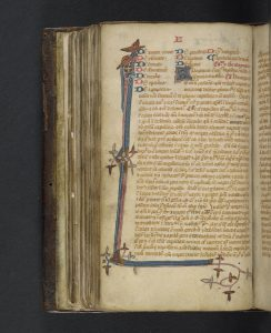 Lilium medicinae, Bernard de Gordon. Historical Medical Library of The College of Physicians of Philadelphia, Ms 10a 149, fol. 55v. Image from Bibliotheca Philadelphiensis on OPenn.