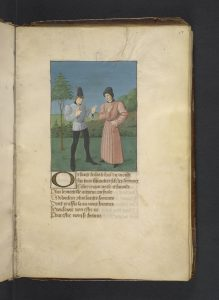 The author and a friend, fol. 17r