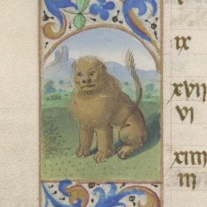 Free Library of Philadelphia Lewis E 212, Book of Hours, Use of Rome, fol. 8v