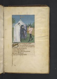 A knight and a squire, fol. 6r
