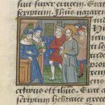 Fol. 24r: Christ before Pilate