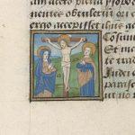 Fol. 25v: Crucifixion with John and Mary